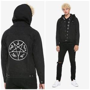 Supernatural Denim Hoodie with Trap Circle